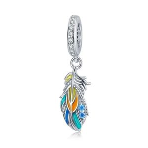 925 Sterling Silver Feather Charm